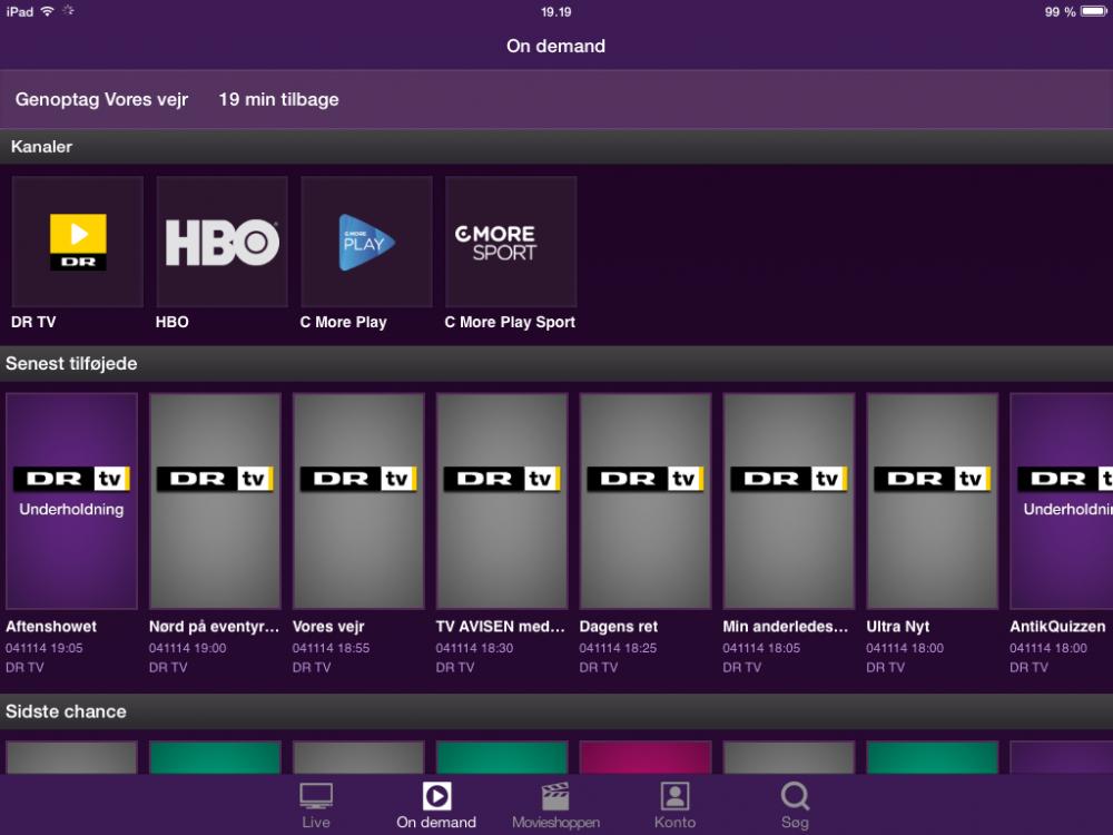 210402ad Der err også adgang til forskellige on demand-udsendelser, ligesom Telia TV  kan integrere din HBO-konto.
