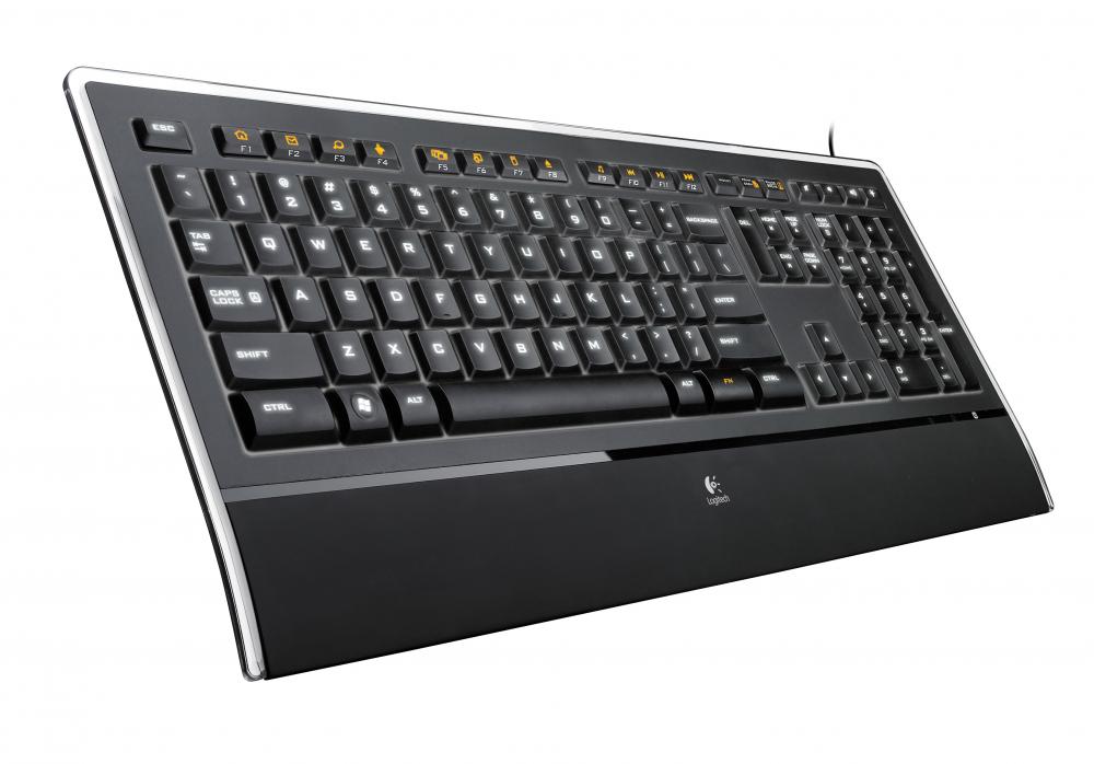 tastatur med lys i