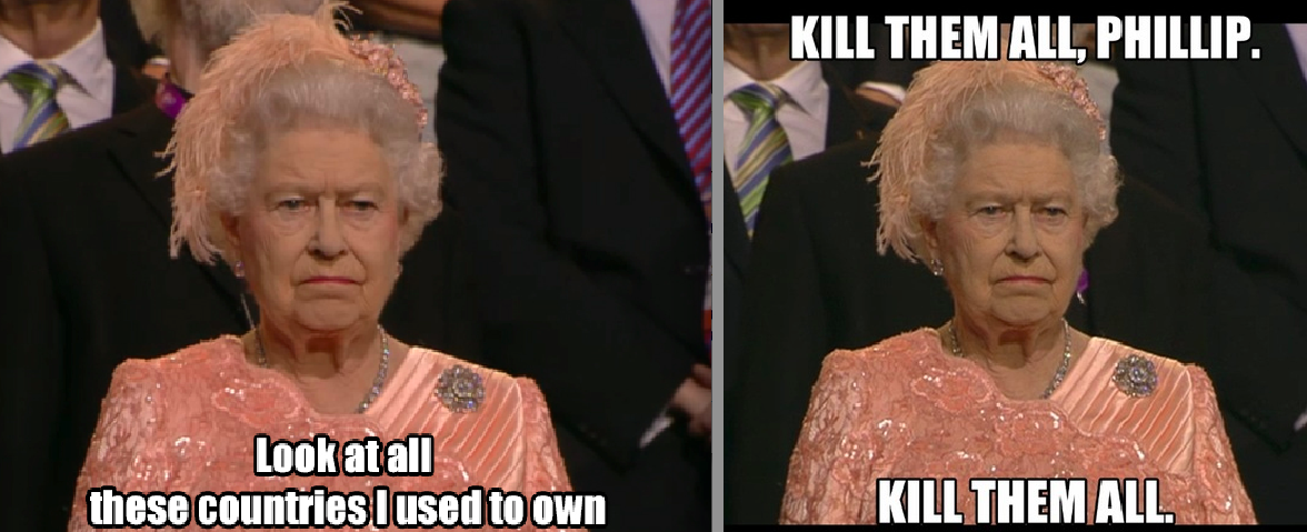 The Queen Is Not Amused